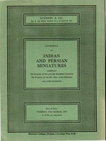 SOTHEBY & CO, Indian and Persian miniatures[03/73]