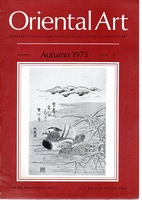 Oriental Art. New Series Volume XIX Number 3. Autumn 1973